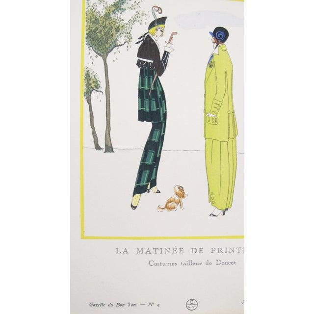 1914 Gazette Du Bon Ton Doucet Fashion Plate Matinee Du Printemps