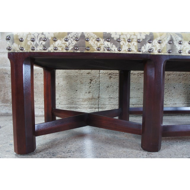 2000 - 2009 Hickory Chair Mark Hampton Thomas O'Brein Trestle Bench For Sale - Image 5 of 13