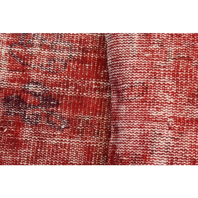 Red Over-Dyed Rug Pillow Covers - A Pair - Image 3 of 7
