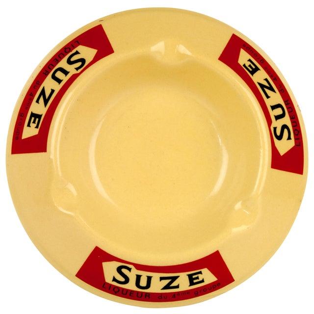 Vintage French Porcelain Suze Ashtray For Sale
