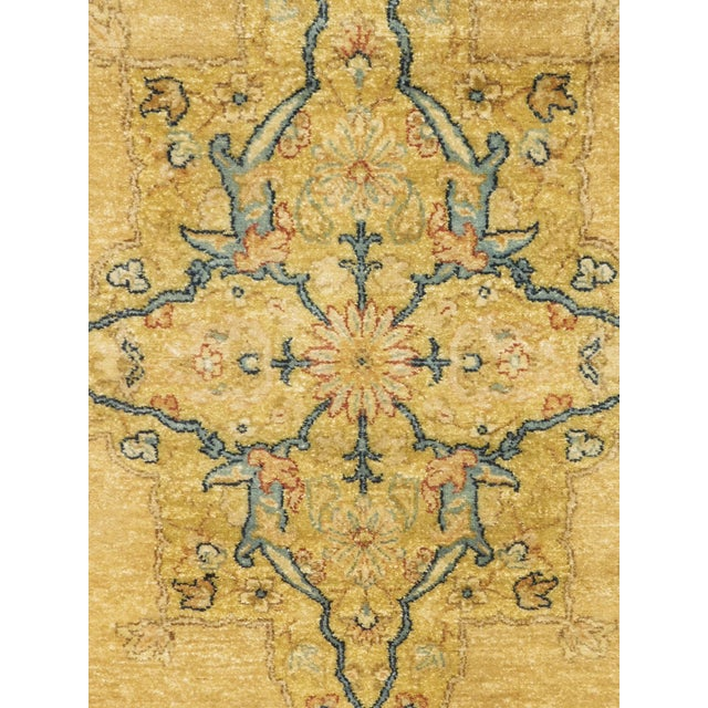 "Tan Handmade Indian Runner Rug - 3'1"" x 11'10"" For Sale - Image 8 of 9"