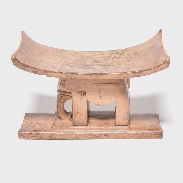 Wood Ashanti Elephant Stool For Sale - Image 7 of 7