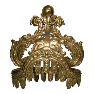 1900s French Corona Headboard Decoration For Sale