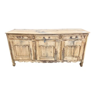 18th Century French Provençal Louis XV Bleached Oak Enfilade For Sale