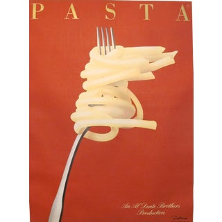 Original 1986 Oversize Artist-Signed Pasta Poster, Razzzia For Sale