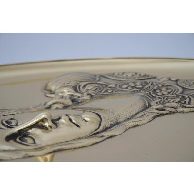 """Antique 19c """"Joan of Arc"""" Bas Relief Tazza Compote Dish Bronze For Sale - Image 11 of 13"""