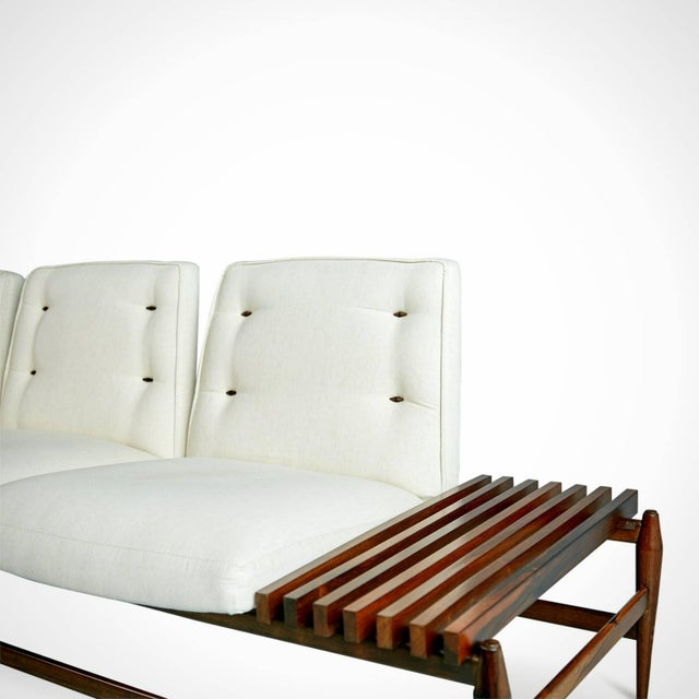 Animal Skin 1950s Liceu De Artes E Oficios Jacaranda Sofa & Side Tables, Brazil - 3 Pc. Set For Sale - Image 7 of 11