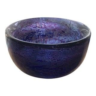1960s Mid-Century Modern Kosta Boda Purple Glass Bowl For Sale