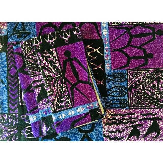 Vintage Batik Dinner Napkins, Set of 4 For Sale - Image 4 of 5