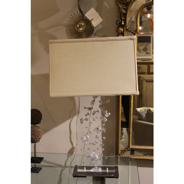 Artisan Acrylic Bullet Lamp For Sale In Charleston - Image 6 of 6