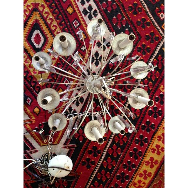 Metal Gaetano Sciolari Chrome & Crystal Chandelier For Sale - Image 7 of 11
