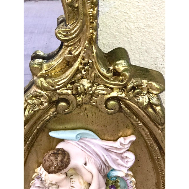 Antique Italian Rococo Gold Gilded Mirror - Image 8 of 10