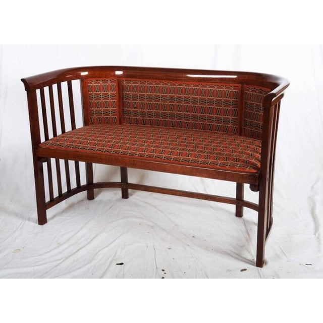 Beech Antique Bentwood Seat by Josef Hoffmann for Thonet For Sale - Image 7 of 11