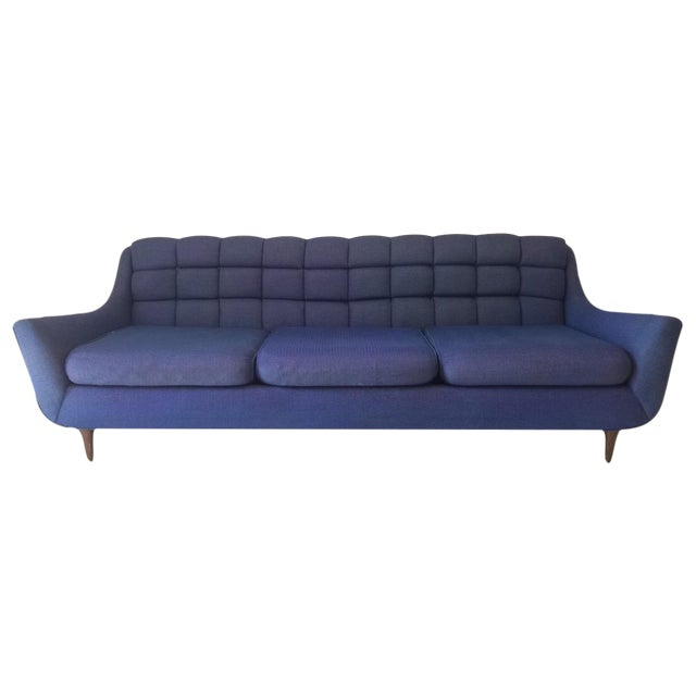 Mid-Century Blue Sofa by Stratford - Image 1 of 6