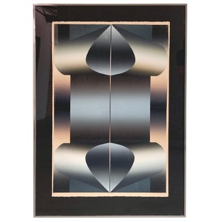 """1977 """"Undulation"""" Lithograph Signed by Stephanie Evans For Sale"""