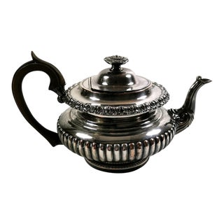 1820-1825 Sheffield Plate George IV Teapot For Sale