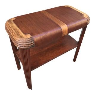 1920s Art Deco Mahogany Side Table