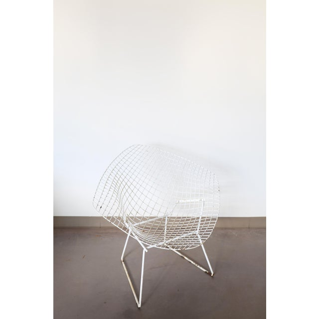 White Bertoia Diamond Chair by Knoll - Image 5 of 6