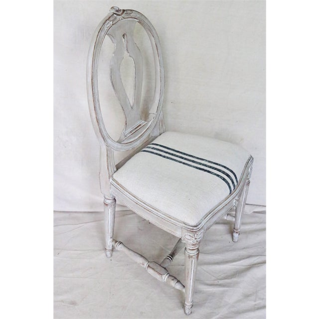 Mid 19th Century Mid 19th Century Swedish Gustavian Dining Chairs, Set of 6 For Sale - Image 5 of 13