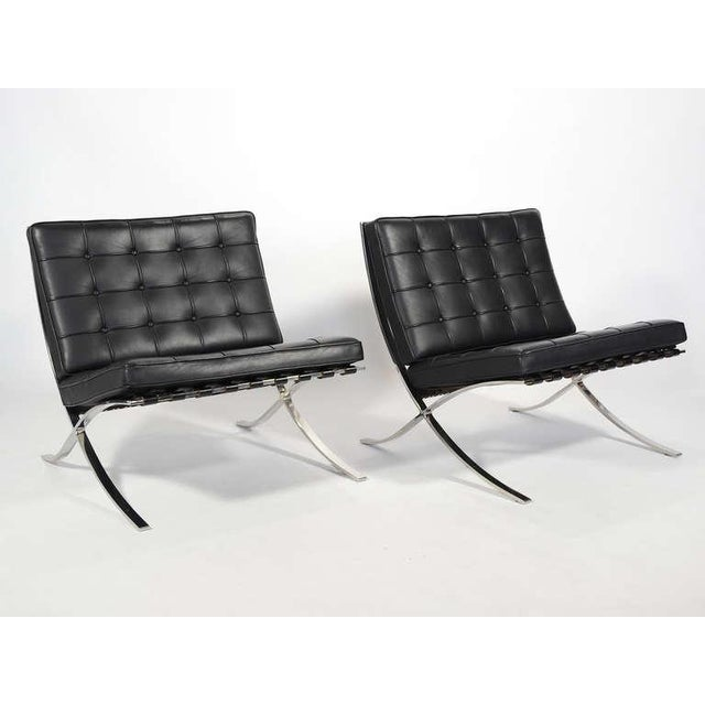2000s Ludwig Mies van der Rohe Barcelona Chairs by Knoll For Sale - Image 5 of 11