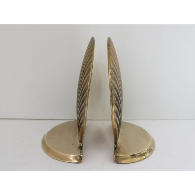 Vintage Brass Seashell Bookends - A Pair - Image 5 of 7