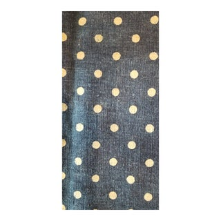 1920s Homespun Polk Dot Indigo Grain Sack For Sale