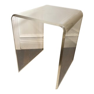 Mid-Century Lucite Side Table
