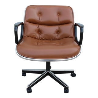 Brown Leather Knoll Pollock Executive Chair