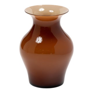 Fortuny by Moretti Madrazo Small Vase in Brown For Sale