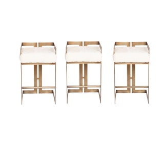 Customizabe Set of 3 Murray Stools For Sale