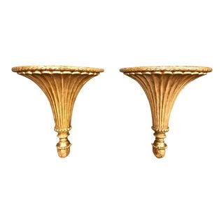 18th Century Louis XVI Gilt Neoclassical Brackets - a Pair For Sale