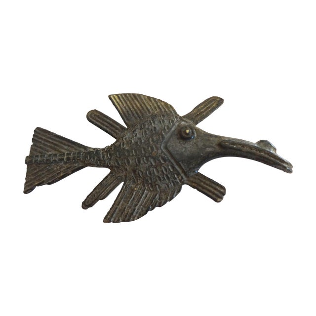 Akan Bronze Gold Weight Figure of a Fish - Image 1 of 4