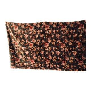 """Vintage Floral Design Velvet Fabric 45"""" X 75"""" For Sale"""