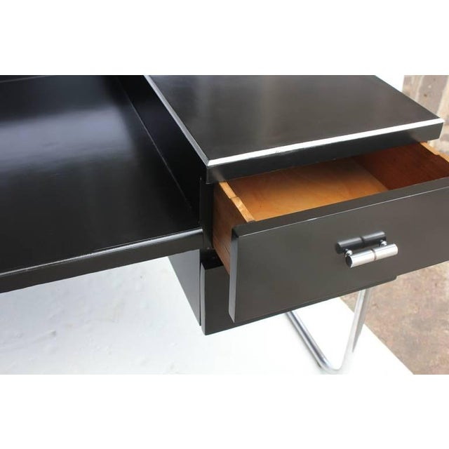Art Deco Black Lacquered Desk by Wolfgang Hoffmann - Image 5 of 6