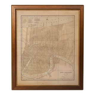 Vintage Sarreid LTD City Map of New Orleans