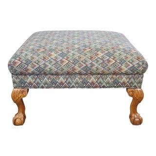 Sherrill Furniture Chippendale Georgian Style Ottoman For Sale