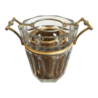 1980 Baccarat Crystal Moulin Rouge Champagne Bucket With Bottle Holder