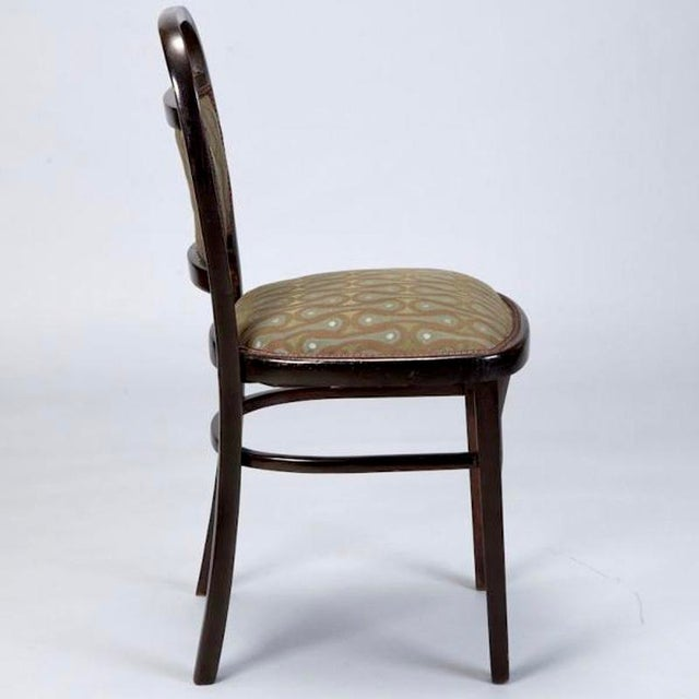 Set of 4 Otto Wagner Secessionist Walnut Dining Chairs - Image 7 of 10