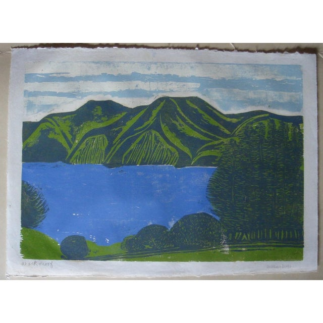 """""""South Bay"""" Woodblock by William Wolff - Image 2 of 4"""
