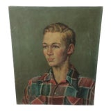 Image of Painting of a Young Man by Elizabeth Carlisle For Sale