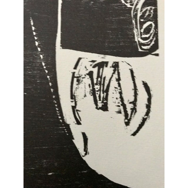 1966 - Waltraud Zeisig - Signed Linocut 'Dame'Mit Vogel' For Sale In Los Angeles - Image 6 of 10