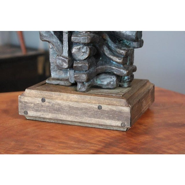 Abstract Bronze Sculpture by Gene Caples - Image 8 of 10