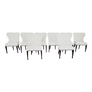 Modern Vanguard Dining Chairs- Set 8 For Sale