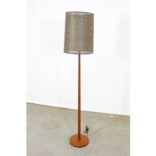 Mid-Century Modern Scandinavian George Kovacs Double Shade Teak Floor Lamp Preview