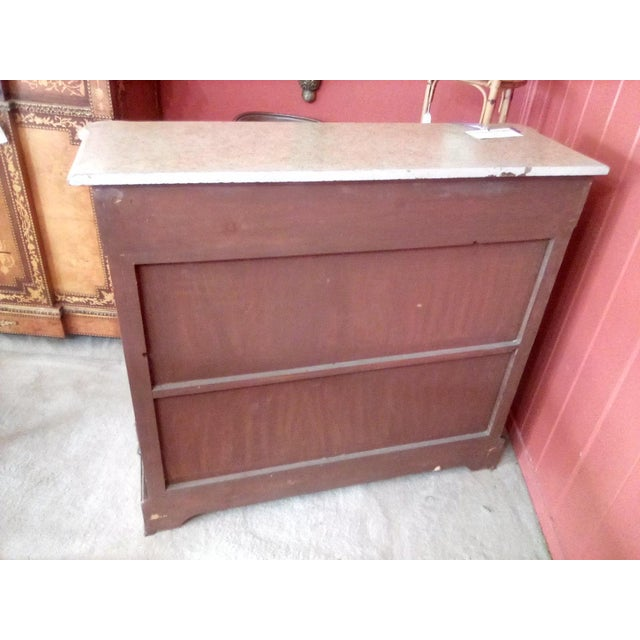 1960 French Server With Painted Floral Motif For Sale - Image 10 of 11