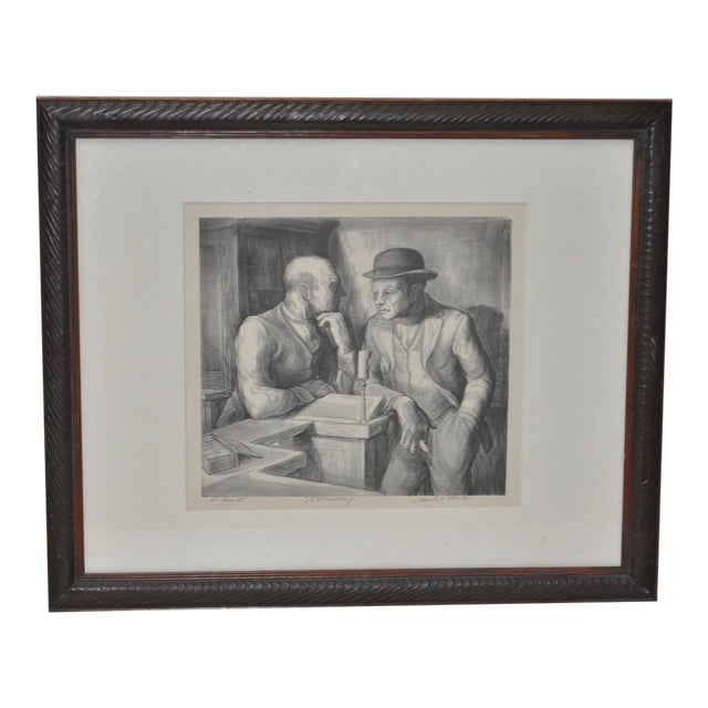 Charles Locke Pencil Signed Lithograph For Sale