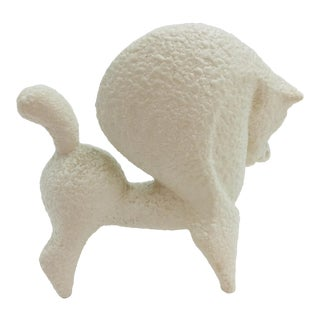 Roberto Rigon of Italy White Horse With White Glost Glaze Figurine For Sale