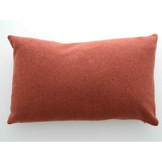 FirmaMenta Italian Orange Sustainable Wool Lumbar Pillow Preview