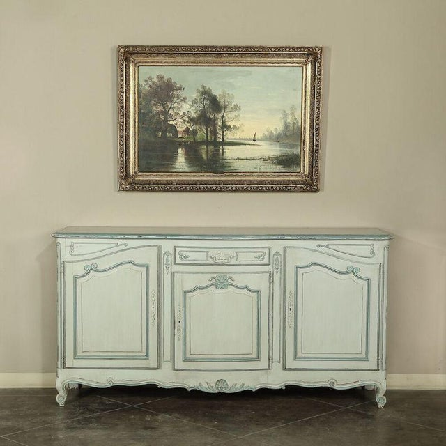 Antique Country French Painted Buffet For Sale - Image 4 of 10