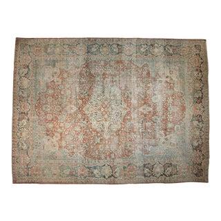 "Vintage Distressed Mahal Carpet - 11'3"" X 15' For Sale"